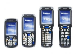 CN70, CN70e, CK70, and CK71 Handheld Computers shown as a family grouping